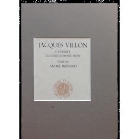 L'Effort - eau-forte et pointe sèche - Jacques Villon