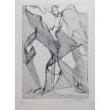 L'Effort - eau-forte et pointe sèche - Jacques Villon