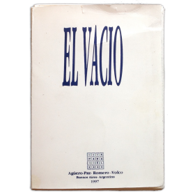 """""""Horror Vacui"""" [El Vacío]. Libro/objeto Nº 3"""