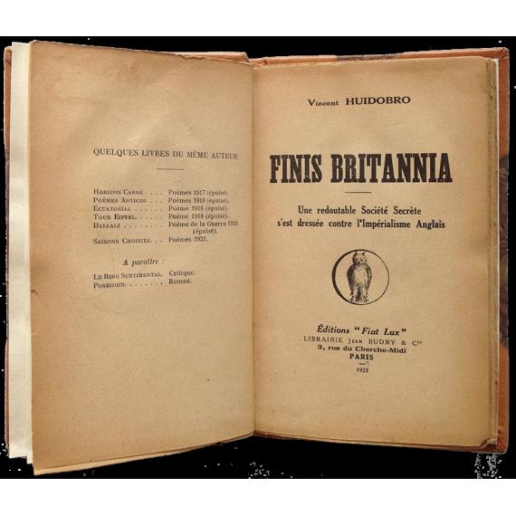 Finis Britannia De Vicente Huidobro Con Dedicatoria