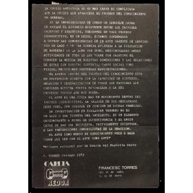 Francesc Torres. Galería Redor, [Madrid], del 29 de abril al 25 de mayo [1974]