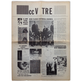"Fluxus Magazine ccV TRE. ""Fluxus cc V TRE Fluxus"", No. 1, January 1964. Single issue"