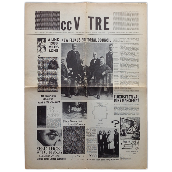 "Fluxus Magazine ccV TRE. ""Fluxus cc V TRE Fluxus"", No. 1, January 1964. Single issue"