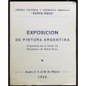 """Exposición de pintura argentina. Centro Cultural y Deportivo Israelita """"Ramos Mejía"""", del 4 al 25 de marzo de 1948"""