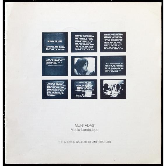 Muntadas - Media Landscape. The Addison Gallery of American Art, Andover, January-February 1982