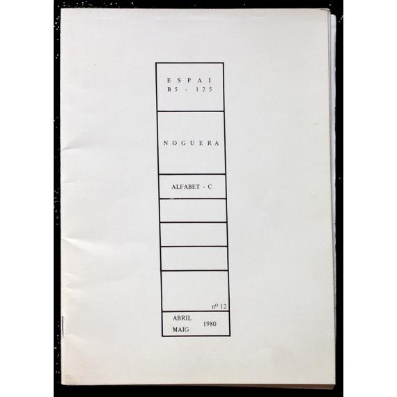 Espai B5 - 125, nº 12: Noguera. Alfabet-C
