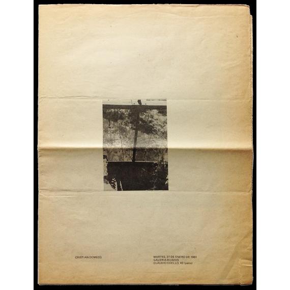 Cristian Domecq. Galería Buades, Madrid, Enero 1981