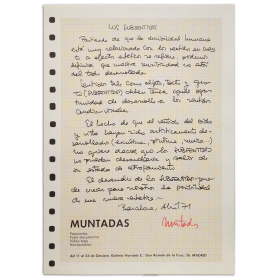 Antoni Muntadas - Los subsentidos. Galería Vandrés, Madrid, del 11 al 23 de octubre de 1971