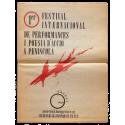 1er Festival Internacional de performances i poesia d'acció a Peníscola. 21, 22, 23 d'agost 1989