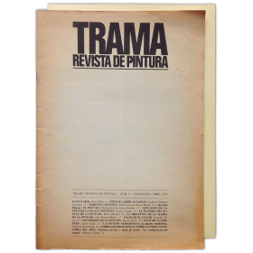 TRAMA. Revista de pintura. Núm. 0, Abril 1976 y Núm. 1-2, Otoño 1977 (completa)