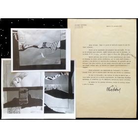 Carta mecanoscrita + fotografías - Ricardo Cristóbal