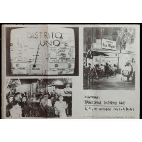 Muntadas: Barcelona Distrito Uno. 8, 9 y 10 octubre [1976]