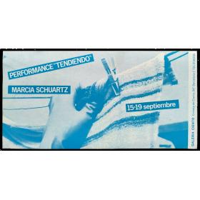 """Performance """"Tendiendo"""" - Marcia Schvartz. Galería Ciento, Barcelona, 15-19 septiembre, [1981]"""