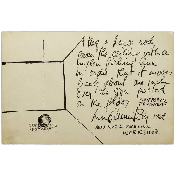 """Luis Camnitzer - Somebody's Fragment, 1969, (NYGW). [""""557,087"""" - Lucy Lippard. Seattle Art Museum, 1969]"""