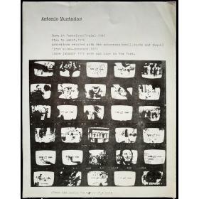 """Antonio Muntadas - From the serie """"ART-LIFE"""", 1973 -"""