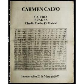 Carmen Calvo. Galería Buades, Madrid, mayo 1977