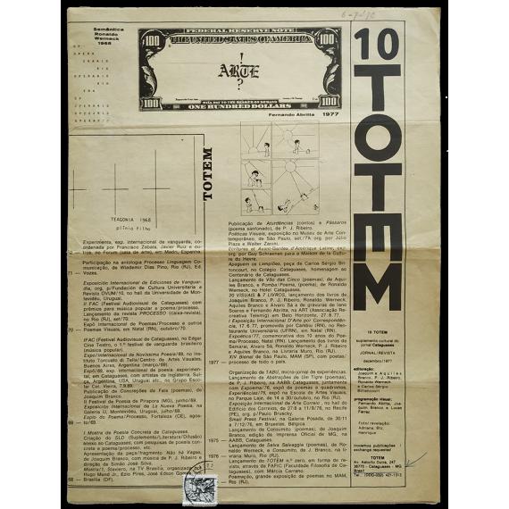 Totem nº 10. Suplemento cultural do jornal Cataguases. Dezembro, 1977
