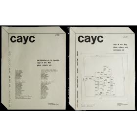 """Participantes en la muestra """"CAyC al Aire Libre"""". Plaza Roberto Arlt, Buenos Aires, 23 de septiembre de 1972"""
