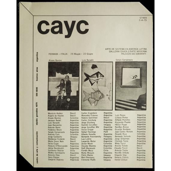 Arte de Sistema en América Latina. Galleria Civica d'Arte Moderna, Palazzo dei Diamanti, Ferrara, 25 Maggio-22 Giugno, 1975