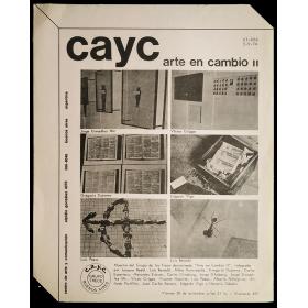 Arte en cambio II. CAyC - Grupo de los Trece, Buenos Aires, 20 de setiembre de 1974
