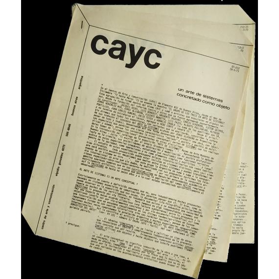 Un arte de sistemas concretado como objeto. CAyC, Buenos Aires, 1973
