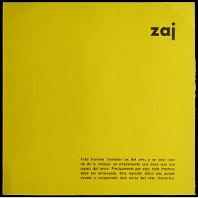 Zaj - Ramón Barce ( Madrid, 1965)
