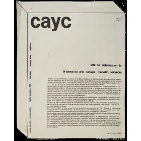 Arte de Sistemas en la III Bienal de Arte Coltejer - Medellín, Colombia, abril-mayo 1972