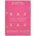 Zaj - Juan Hidalgo, Walter Marchetti, Esther Ferrer. Kulturreferat AStA RWTH Aachen, 22 mai 1968