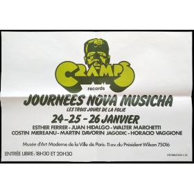 Journées Nova Musicha. Les trois jours de la folie. Musée d'Art Moderne de la Ville de Paris, 24-25-26 janvier [1977]