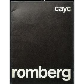 Osvaldo Romberg - Tipología del espacio, paisajes como idea, serigafías, estructuras y proyectos. CAyC, Buenos Aires, nov. 1972