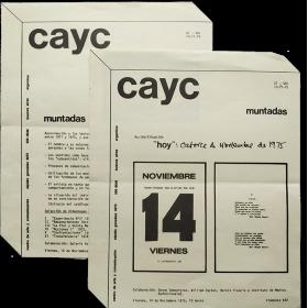 Muntadas. CAyC Centro de Arte y Comunicación, Buenos Aires, noviembre 1975