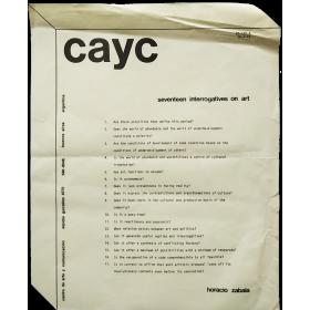 Horacio Zabala - Seventeen interrogatives on art. CAyC, Buenos Aires 1972