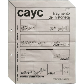 Mirtha Dermisache - Fragmento de historieta. CAyC Centro de Arte y Comuniación, Buenos Aires, setiembre 1974