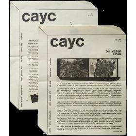 "Bill Vazan, Canadá - ""Worldline - Línea Mundial 1969-1971"". CAyC Centro de Arte y Comunicación, Buenos Aires, noviembre de 1975"