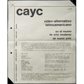 CAyC - Video-alternativo latinoamericano en el Museo de Arte Moderno de Nueva York,  Enero de 1974