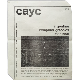 CAyC - Argentine computer graphics. Museum of Contemporary Art, Montreal, may-june 1974