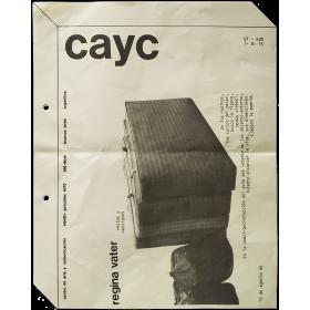 Regina Vater - Restos y Vestigios. CAyC Centro de Arte y Comunicación, Buenos Aires, 12 de agosto de 1975