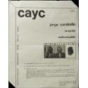 Jorge Caraballo, Uruguay - Audiovisuales. CAYC Centro de Arte y Comunicación, Buenos Aires, setiembre de 1973