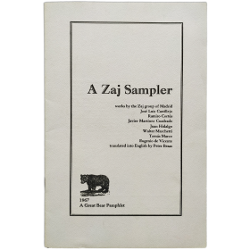 A Zaj Sampler. A Great Bear Pamphlet 1967