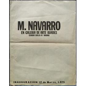 M. Navarro en Galería de arte Buades. Madrid, Marzo de 1975
