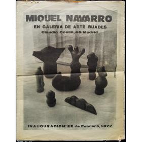 Miquel Navarro en Galería de arte Buades. Madrid, febrero de 1977
