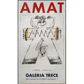 [Frederic ] Amat. Galería Trece, Barcelona, 11 febrero - 13 marzo 1976