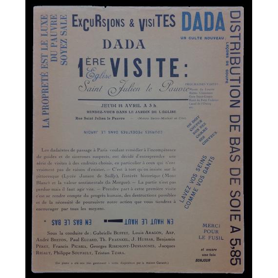 Excursions & visites dada. 1ère visite: Eglise Saint Julien le Pauvre. Jeudi 14 avril à 3 h.