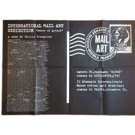 "International Mail Art Exhibition. ""House of Artist"""