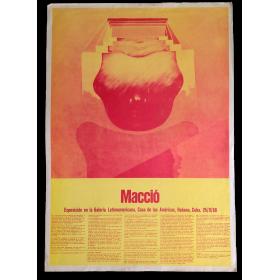 Macció. Exposición en la Galería Latinoamericana, Casa de las Américas, Habana, Cuba. 25-9-68