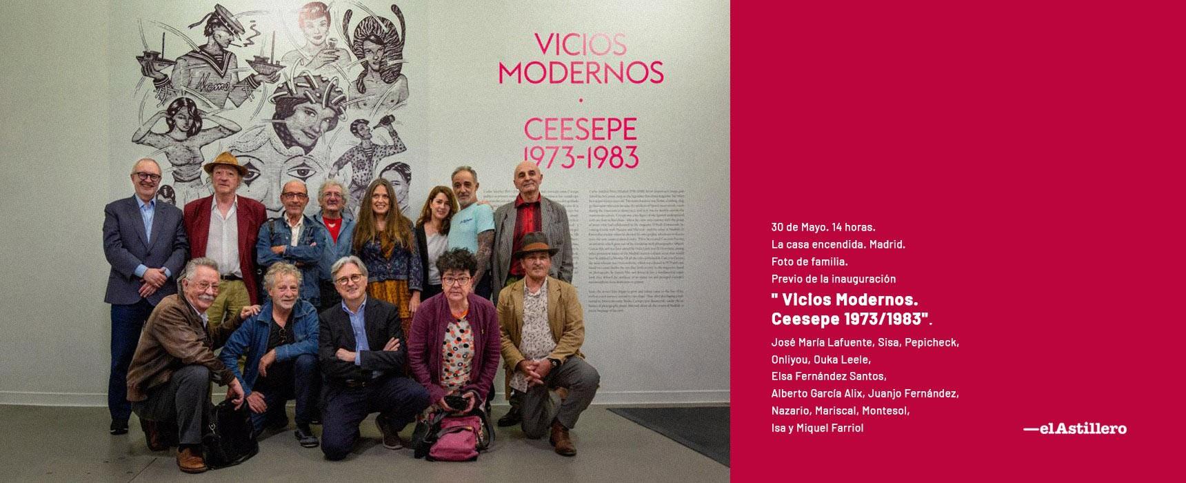 Foto de familia - Innauguración Exposición Vicios Modernos Ceesepe 1973-1983