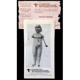 1er Congrés Internacional de Happenings. Casa de Cultura, Granollers, 26, 27 i 28 de Març del 1976