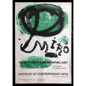 Miro, Thirty Years of Graphic Art, Institute of Contemporary Arts