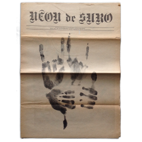 "Neon de Suro. Fullet monogràfic de divulgació. Autor: Sara Gibert. Març 1979. ""Hand made"""