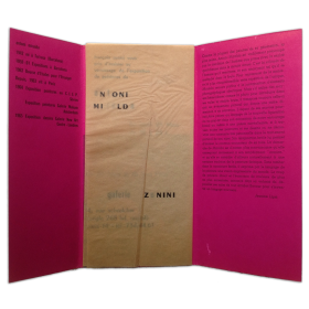 Antoni Miralda. Galerie Zunini, Paris, du 25 Mars au 18 Avril 1965